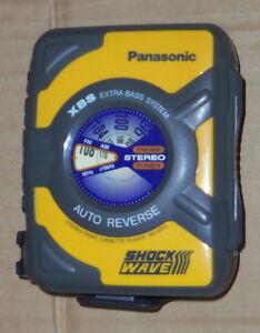 Panasonic ShockWave RQ-SW5 XBS AM/FM Radio Cassette Tape Player