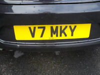 PERSONNEL CAR NUMBER PLATE V7MKY
