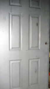New! Unused, Unpainted, Fire Grade, Steel Door. Garage or Entry