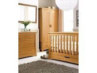 MAMAS AND PAPAS SPRING OAK NURSERY FURNITURE 4 PIECE