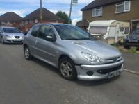 2005 55.REG PEUGEOT 206 1.2 SPORT 3DR IN SILVER NEEDS ATTENTION