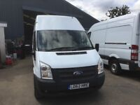 Ford transit lwb high roof.2012.air con.elec windows and mirrors.reverse parking sensors