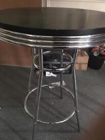 American style diner table