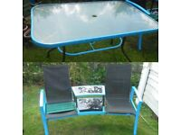 FREE - GARDEN TABLE & SIDE CHAIR