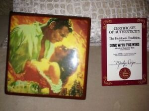 Gone With The Wind - Collectible Plate & Music Box - $65