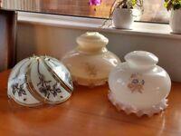 Vintage glass lamp shades