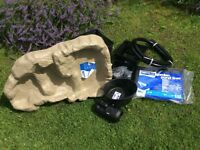 Hozelock pond kit. Brand New. Includes Hozelock Cyprio 2000 fountain/waterfall pump. Pond liner.