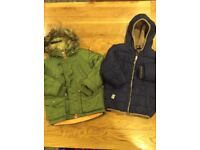 Two Next branded coats aged 3-4 years