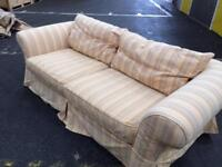 Large 3 seater couch light yellow