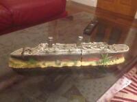 Titanic Boat Ship Wreck Large 2 Part Ornament Aquarium Fish Tank New