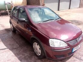 2004 Vauxhall Corsa 1.2 Life, Red, No MOT, SPARES OR REPAIRS Needs Headgasket