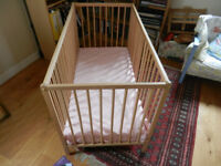 Baby Cot and recently purchased mattress. Good condition and ready to go and use. Collection only