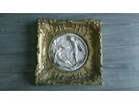 Hand carved sevres marble wall plaque dated 1848