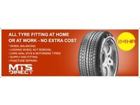mobile tyre fitting Mts direct 24hr
