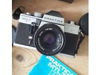 PRAKTICA MTL 3 35mm SLR Film Camera with lenses and accessories