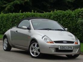 2003 Ford Streetka 1.6 Luxury***WOW LOW MILES 44K + £1300 WORTH OF INVOICES***