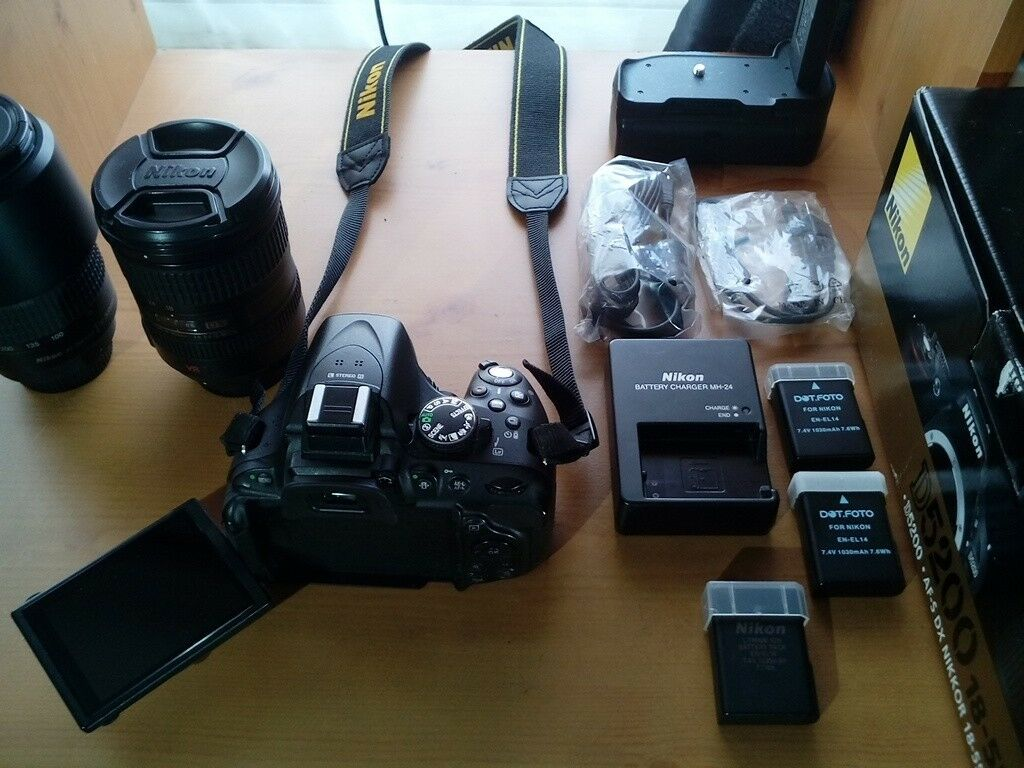 Nikon D5200 & 70-300mm F4-5.5G with Battery Grip + extras Shutter ...