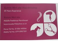 Mobile Hairdresser looking to increase my clients West Lothian.