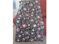 LARGE PIECE OF BLACK FLORAL FABRIC