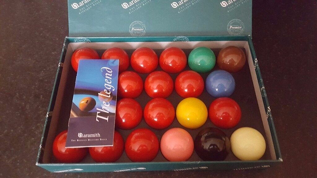 Aramith High Quality Premier full size snooker ballsused only once, bargainin SwanseaGumtree - Excellent quality Aramith Premier full size snooker balls. Used only once so virtually brand new. Sell for minimum £65 plus postage so selling for a bargain £40 plus postage