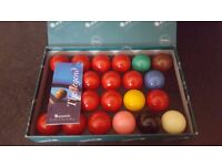 Aramith High Quality Premier full size snooker balls - used only once, bargain
