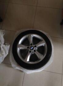 """Genuine 17"""" BMW Alloy wheels with run flat"""