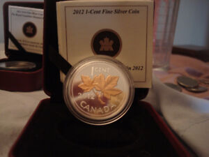 2012 Farewell Penny Canadian Gold Plated Silver Coin