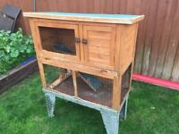 2 tier rabbit hutch with stand