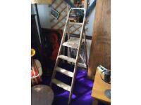 Old wooden shabby Chic ladder