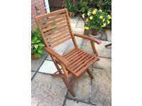 Garden furniture set with 6 chairs and parasol