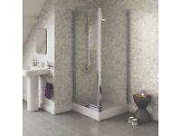 900mm shower door and side panel £154
