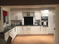 White gloss excellent condition kitchen units and various appliances