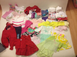 A lot of over 100 baby girl clothe pieces nb- 0-3