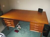 large Desk with drawers and rear cupboard