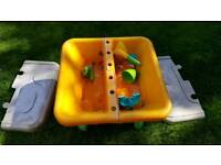 Toddler, child's, kids, sand, water pit