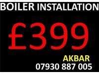 boiler installation, MEGA FLO, full gas central heating installation, BACK BOILER REMOVED, VAILLANT