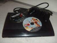 SONY PS3 SUPER SLIM & 2 GAMES
