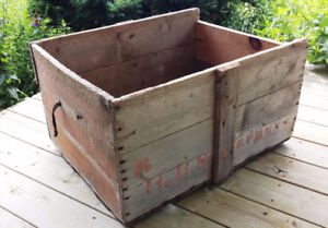 OLD WOOD CRATE - REDUCED!