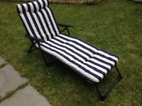 FURTHER REDUCED - 2 New comfortable Cushion Sun lounger chair £30