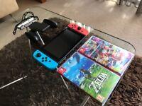 Nintendo Switch + 2 games + 256GB microSD + accessories