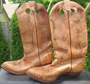 Men's BOULET Leather Cowboy Boots size 9 1/2