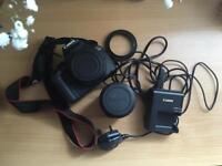 Canon 1200D with lens, camera bag, two batteries and memory card (All specs below)