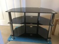 Glass tv stand 3 layers