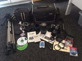 Canon EOS 300D DSLR camera plus loads of accessories