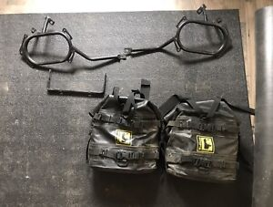 Wolfman Expedition Dry Saddle Bags + KLR650 Mount