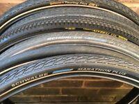 28 700 622 26 inch slick road city tyres for hybrid bikes (700 622 din)