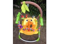 Mothercare Jumping Giraffe Jumperoo Lights Sounds Three Heights RRP £85