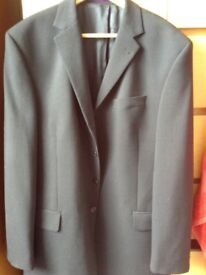 "Dark pin stripe suit (Next) 42R and 34"" L"