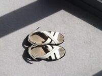 Ladies' sandals MBTs. Size 6 cream leather