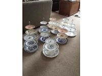 Vintage Afternoon Tea Cake Stands - 2 and 3 tier - used for wedding